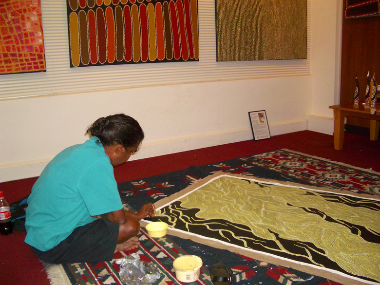 Northern Territory Woman Painting