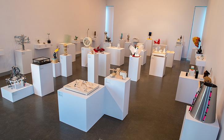 Installation view of 2015 'Deakin University Contemporary Small Sculpture Award', Deakin University Art Gallery 10 June to 10 July 2015, photo: Simon Peter Fox