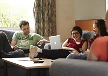 Students in lounge room