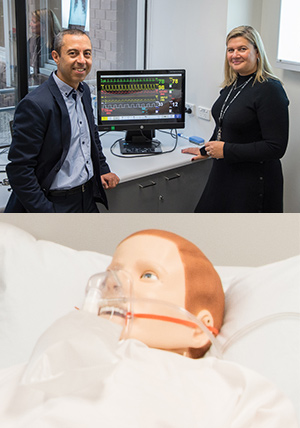 IISRI's Dr Samer Hanoun and School of Medicine's Ms Kellie Britt are part of a project to develop high-tech mannequins for assessing medical students' life saving skills.