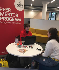 ArtsEd peer mentoring hotdesk