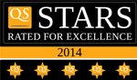 QS Stars rated for excellence 2013 logo