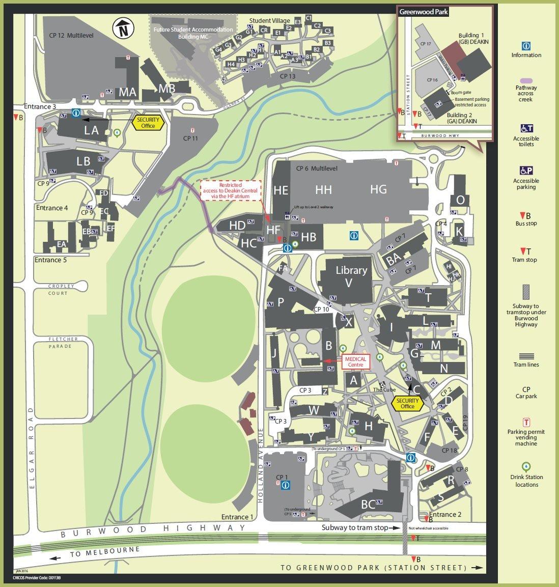 Deakin Burwood Campus Map Deakin Burwood Campus Map | compressportnederland Deakin Burwood Campus Map