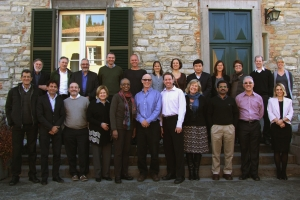 The 23-strong team of international academics and public health experts at the Rockefeller Centre in Bellagio, Italy.