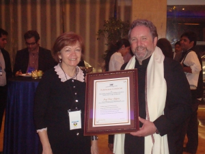 Professor Jane den Hollander (left) and Professor Peter Hodgson.