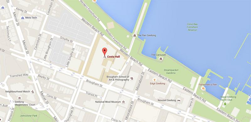 Map of Costa Hall
