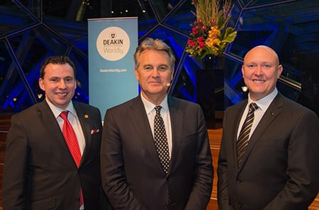 2015 winners and speaker - Kane Hooper, Bernard Salt and James Hood