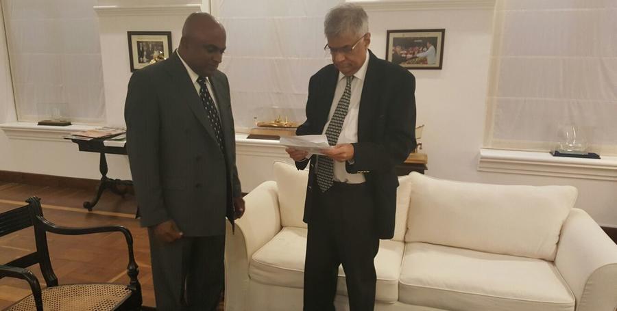 Athula and Sri Lankan PM