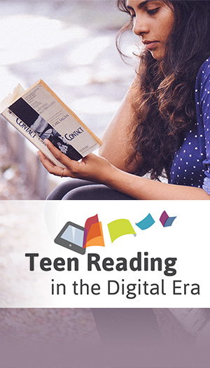 """Our data indicated a key reason why teens were not reading was because of difficulty choosing what to read."""