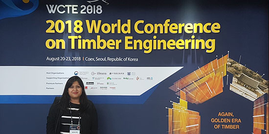 Industry bursary sends Deakin PhD student to international timber engineering forum