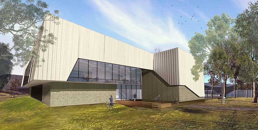 Exterior artist impression of IISRI expansion