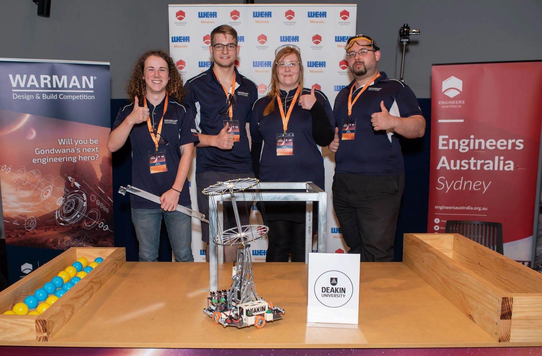 Deakin Warman Competition team members