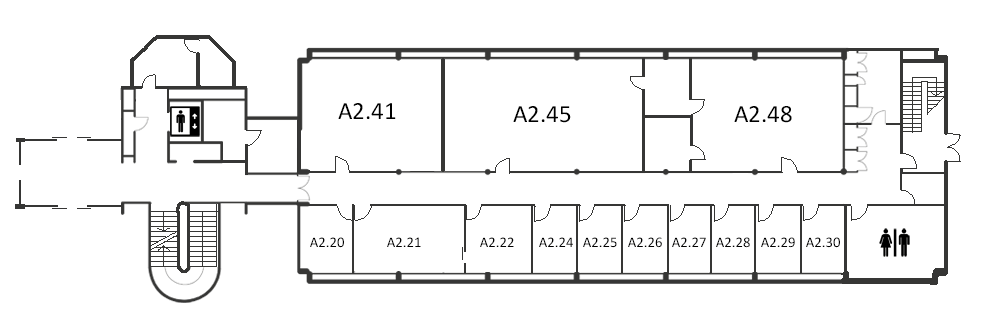 Map indicating the location of the foyer listed for Building A