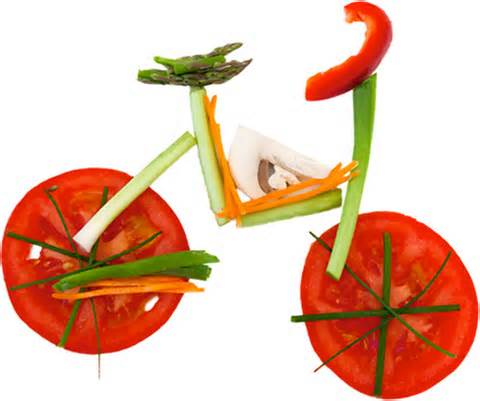 bicycle of vegetables