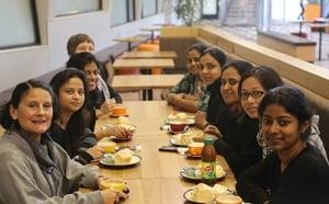 DIRI students enjoying Deakin's hospitality.