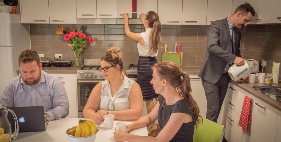 Burwood short-stay accommodation kitchen