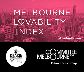 Central Melburnians rated the lovability of their region the highest at 4.17, on a scale where 1 represents highly unlovable and 5 represents highly lovable.
