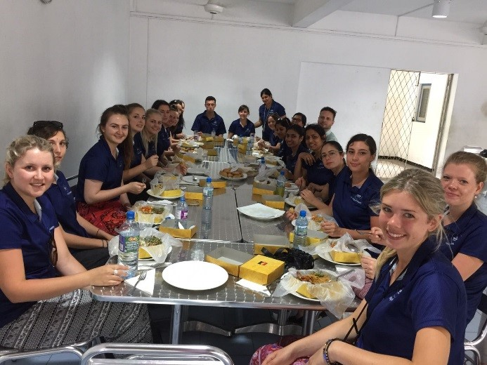 Students enjoying lunch at the Chitra Lane school For Special Children