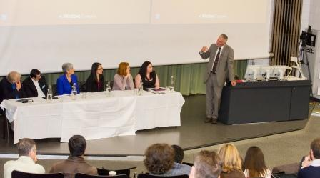 Conference teaching excellence panel with Professor John Catford