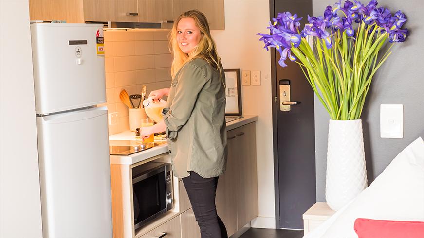 Studio Apartment Kitchen 2015