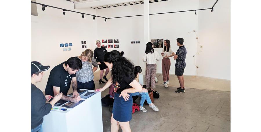 Visitors at Testing Grounds IV exhibition