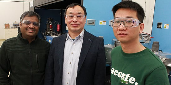 From left to right: Dr Srikanth Mateti, Prof Ian Chen, Dr Qiran Cai