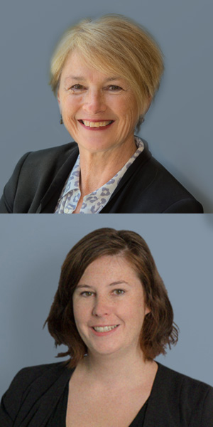 From top: Professor Trish Livingston and Dr Anna Ugalde