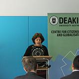 Ms Panayiota Romios speaks on behalf of the Australian Red Cross