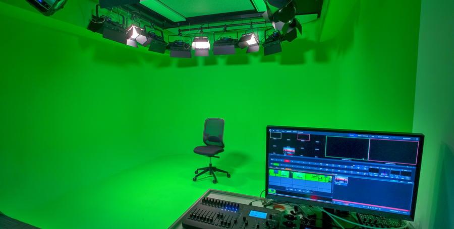 Green-screen studio