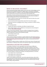 Inclusive teaching practices