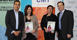 From left: Professor Fethi Mansouri, Ms Carmel Guerra, Ms Soo-Lin Quek and Professor Zlatko Skrbis