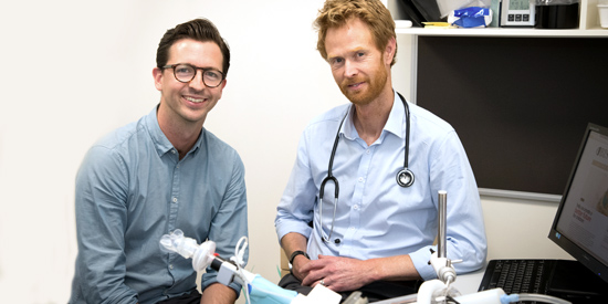 Dr Lawrence Gray and Professor Peter Vuillermin