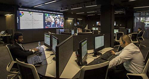 Telstra Trading Room at Deakin University