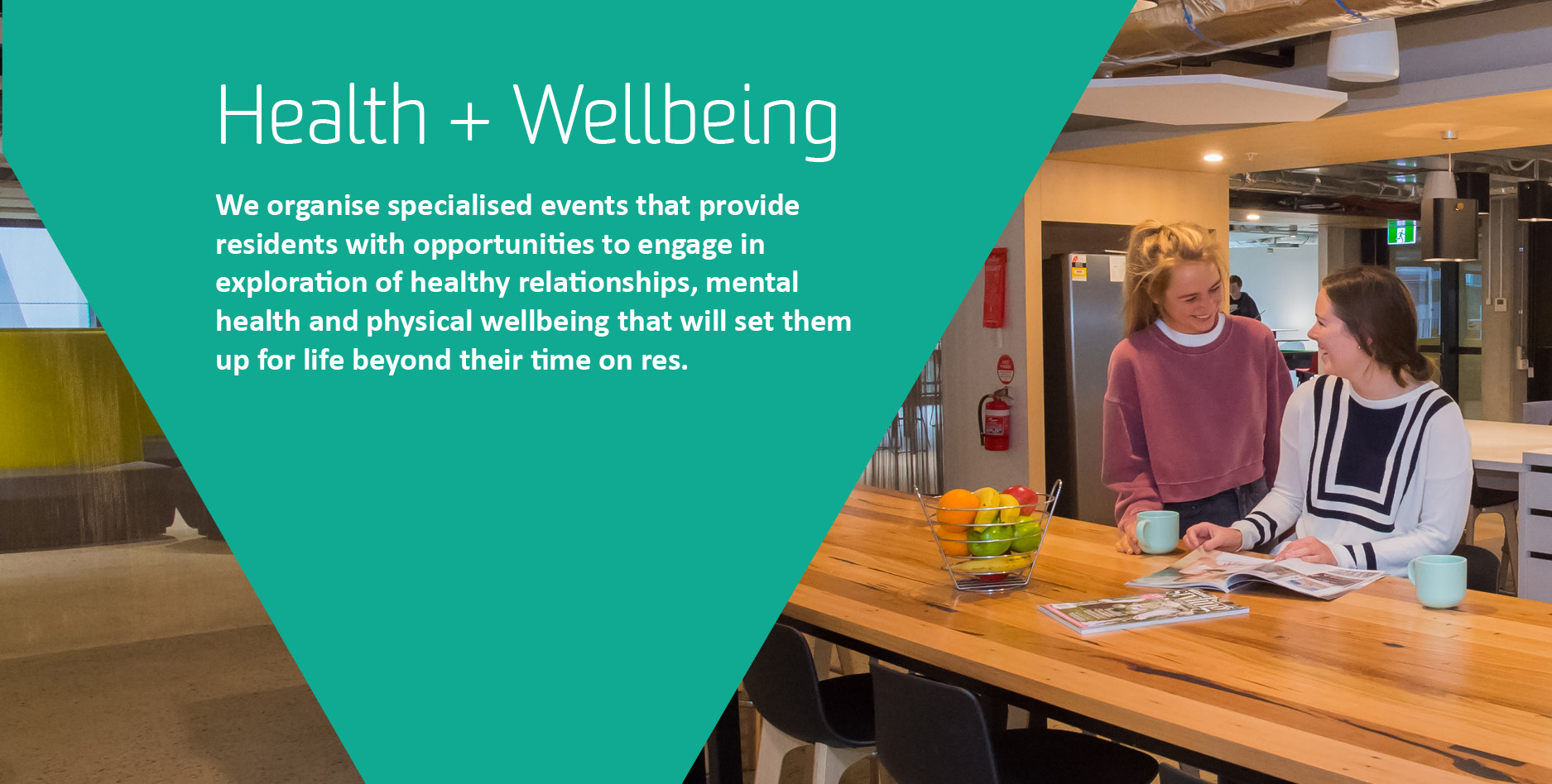 Your student experience Health and Wellbeing