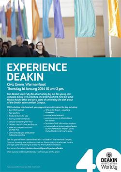Experience Deakin A4 Flyer