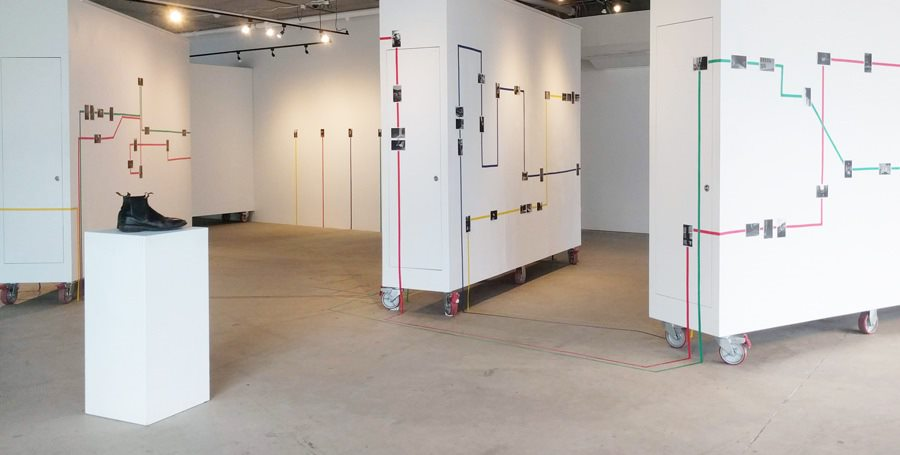 Image of Traverse exhibition at the Project Space