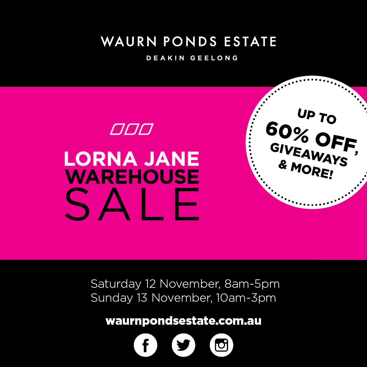 8429aec3f2 Find out more. Learn more about the Lorna Jane Warehouse Sale ...