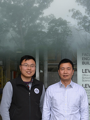From left: Dr Longxiang Gao and Professor Yong Xiang are working with Parks Victoria on high-tech ways to deliver visitor information.