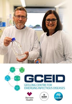 GCEID Director, Professor Soren Alexandersen, with Sarah Henderson MP, Member for Corangamite.