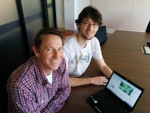 Tackling bullying - Dr Michael Hobbs and IT student Luis Van Slageren.