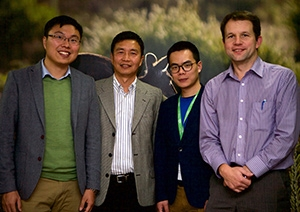 From left: Dr Longxiang Gao, Prof Yong Xiang, Mr Yongqing Jiang, and Dr Mark Antos (Parks Victoria).