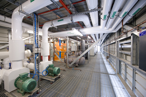 Chilled water pipework and pumps