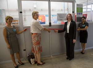 Deakin's Deputy Vice-Chancellor (Research) Professor Lee Astheimer and Professor Valerie Linton, CEO of the Energy Pipelines CRC, open the National Facility for Pipelines Coating Assessment.