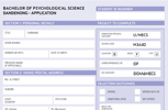 Application form for Bachelor of Psychological Science at Dandenong